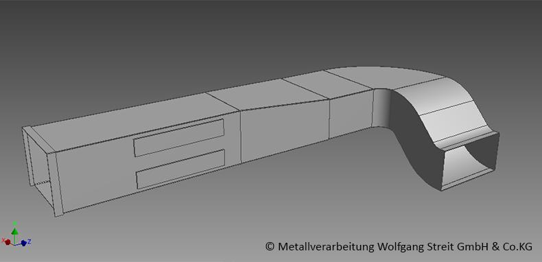 Lüftungskanal in CAD